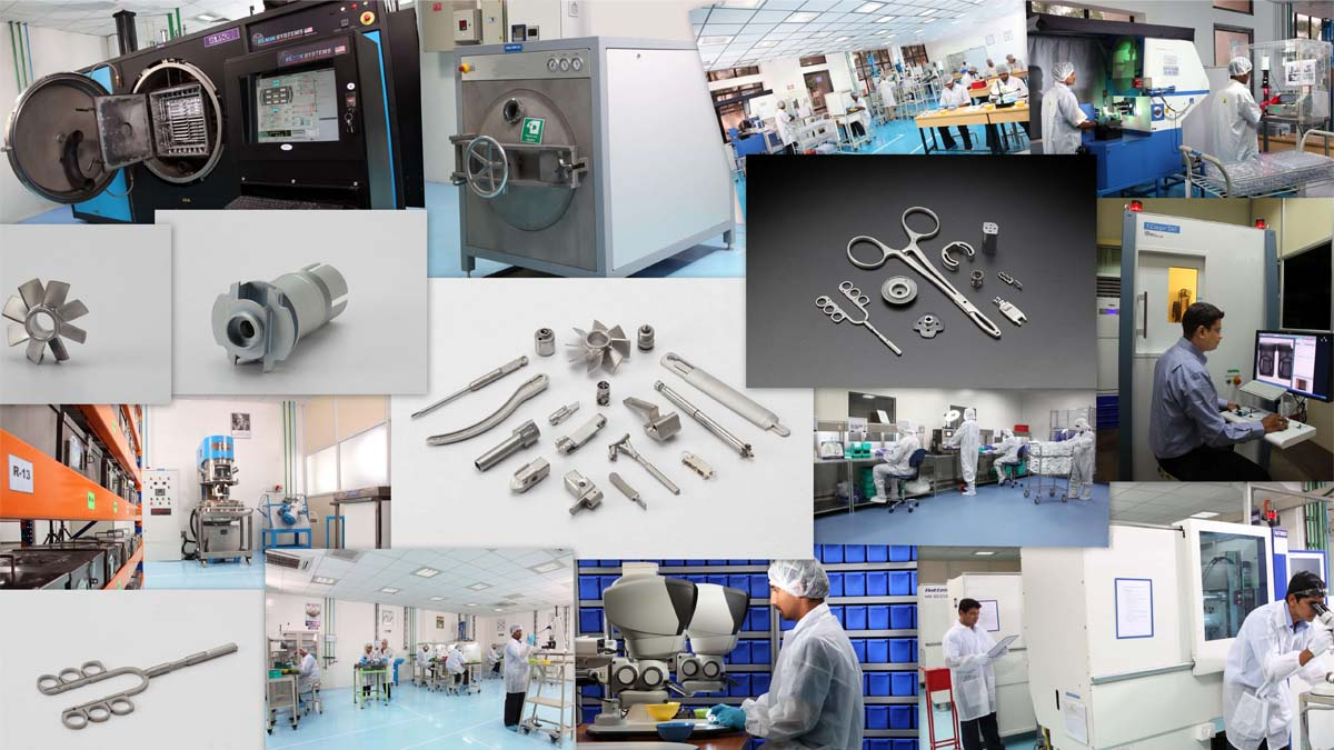 MIM medical components collage