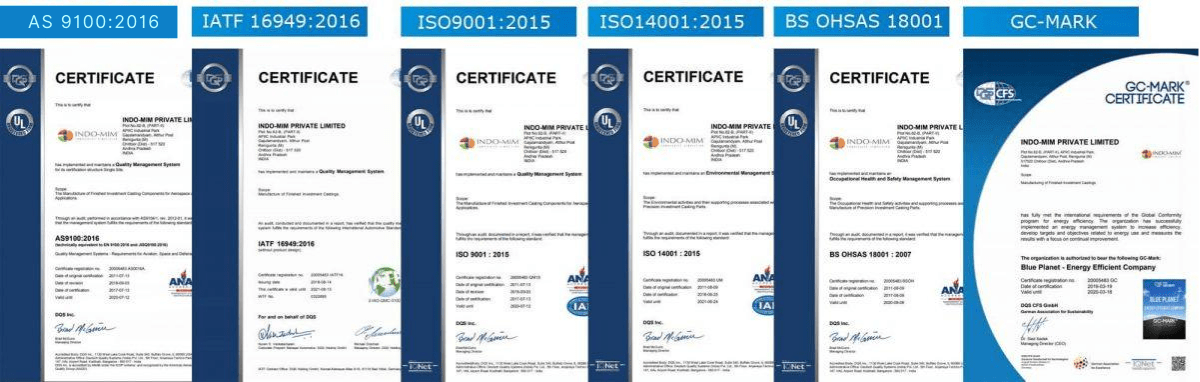 IC certificates
