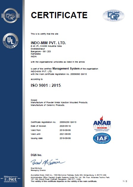 ISO 9001- DBP