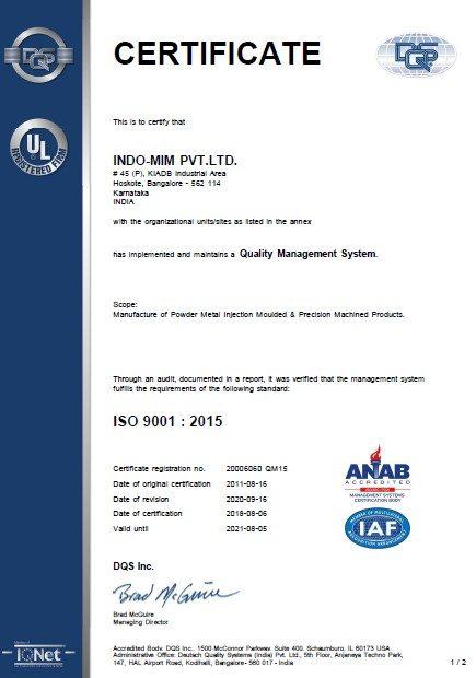 ISO 9001- HSK