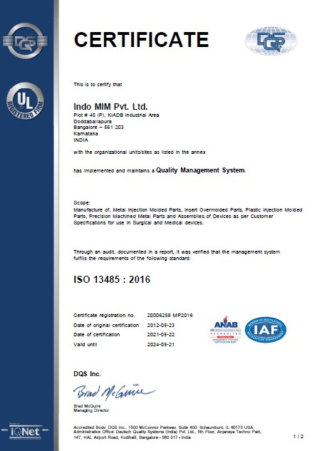 ISO 13485 DBP