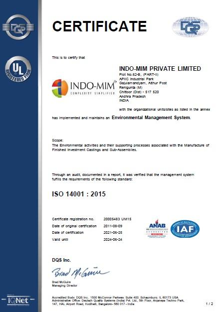 TPT ISO 14001