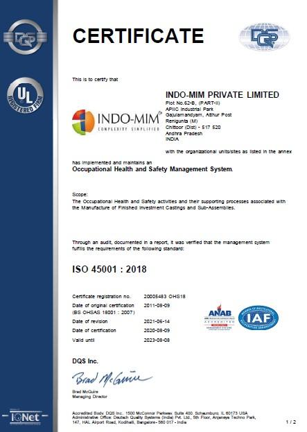 TPT ISO 45001